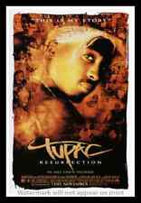 """Framed Vintage Style Rock 'n' Roll Poster """"TUPAC - RESURRECTION"""";12x18"""