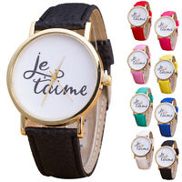 Fashion Women Casual Leather Band Quartz Analog Wrist Watch Dress Watches