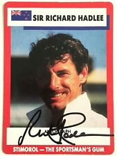 SIGNED RICHARD HADLEE NEW ZEALAND 1990 STIMOROL CARD