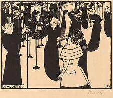 Felix Vallotton Reproductions: La Modiste (The Milliner) - Fine Art Print
