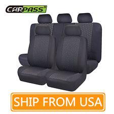 NEW 11PCS Black& blue color  Universal fit car Seat Covers  40/60  50/50 split