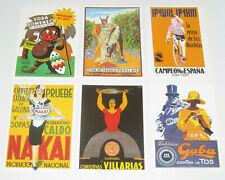 Lot de 6 Carte Postale Reproduction Affiche Publicitaire Ancienne Pub c