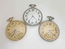 Russian open-face pocket watches, Molnija (3pcs) Lot 2113