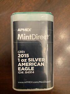 2015 1 oz Silver American Eagles Sealed Roll of 20 APMEX MintDirect Premier
