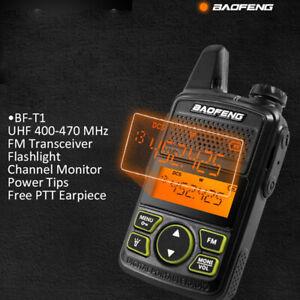 BAOFENG BF-T1 2-Way Radio UHF 400-470Mhz Walkie Talkie CTCSS DCS SOS Auricolare