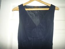 FENN WRIGHT MANSON PURE SILK NAVY DRESS PARTY COCKTAILS OCCASION SIZE 12