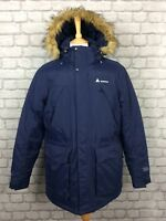 TECHNICALS MENS UK M TECH DOWN NAVY PARKA HOODED COAT PADDED WINTER WARM