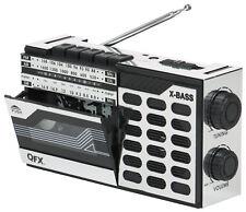 QFX Portable Retro Vintage AM/FM/SW Shortwave Radio Cassette Player Recorder