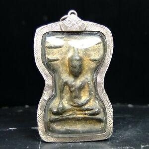 Rare Phra Mahesuan Yai Kru Wat Phra sri Mahathat, Suphanburi Thai Buddha Amulet