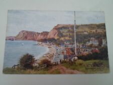 A R QUINTON Postcard 1798 SIDMOUTH FROM THE FLAGSTAFF Franked+Stamped  §A2901