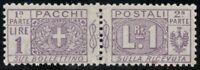 1914 REGNO PACCHI POSTALI NODI SAVOIA LIRE 1 BEN CENTRATO MNH GI**
