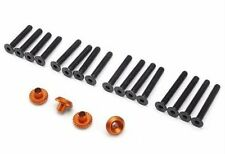 HPI Racing 86986 Wheel Washer (4pcs) & Screws Anodized Orange Cup Racer 1M