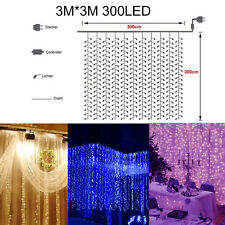Icicle Hanging Curtain Fairy String Light Christmas NET Wedding Party XMAS Decor