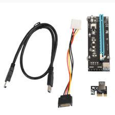 Destra Interfaccia PCIe PCI-E PCI Express Riser Card 1x a 16x Cavo Dati USB G5G3