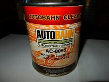 AC 8055-4 ACRYLIC LACQUER 1K Clear coat 1 Qt. High Gloss Ready To Spray Wet Wet