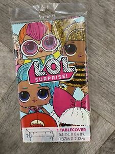 LOL Dolls SURPRISE Rectangle Plastic Tablecover Party Disposable Free Shipping