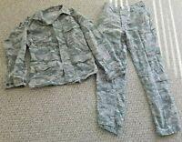 U.S. Air Force 2 Piece Authentic Airman Battle Uniform 32R Pants & Jacket w/WING