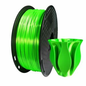 3D Printer Filament 1.75mm 1KG 2.2LB Silk PLA Green Spool Shiny Shine Metal Like