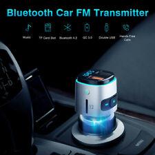 Bluetooth FM Transmitter Car Radio Adapter QC 3.0 USB MP3 Music Handsfree Kit UK