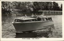 TUCK Power Boat Yacht Motor Cruiser Series Real Photo Postcard MAID MARILOU