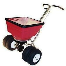 BROADCAST SPREADER - 100 Lbs Cap - Push Type - Twin Tube - Industrial Grade