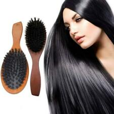 Natural Boar Bristle Hair Brush Comb Oval Anti-static Paddle Massage Scalp 2020