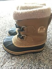 SOREL Youth Size 10 Snow Boots Pull On Waterproof
