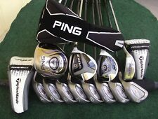 Ladies TaylorMade Ping Irons Driver Wood Hybrid Complete Golf Club Set Womens RH