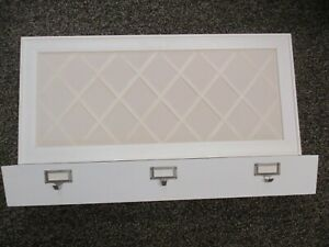 """Pottery Barn White Wooden Mail Note Photo Wall Organizer 31"""" X 18"""""""