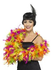 Deluxe Feather Boa Mixed Neon Multi-Coloured 180cm 80g Fancy Dress Accessory
