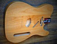 Hand Finished Solid Alder Telecaster Tele Guitar Body -  Natural Finish