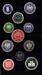4111/ Lot Siegelmarken – kreuz und quer durch Ämter und Firmen – siehe scan