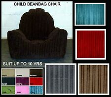 Child Chunky Cord Beanbag Armchair Childrens Bean Bag Gaming Chair up to 10yrs