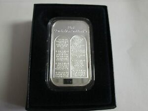 1 oz .999 fine  10 ten Commandments bullion bar  Bible Gods money