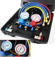 AC Refrigeration Kit A/C Manifold Gauge Set Air R134A, R12, R22, R502 EJK US