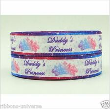"1 Metro 25mm 1"" Daddy Princesa impreso de cinta de Grogrén Lazo hágalo usted mismo"