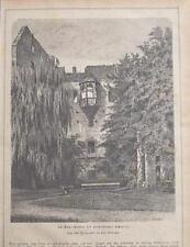 Heidelberg - Schloss, im Ruprechtsbau, Holzstich um 1875