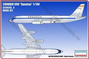 Eastern Express 1/144 Airliner Convair 990  SPANTAX  EE144145_4