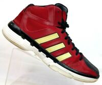 Adidas Pro Model Red/Black High Top Basketball Shoes Reflective Stripes Men's 12