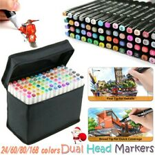 24-168 Colors Dual Tips Sketch Marker Art Drawing Mark Pen Birthday Kids Gift