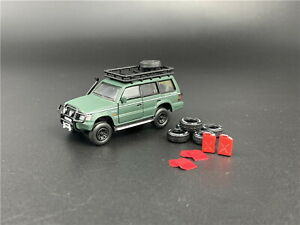BMC 1/64 Mitsubishi Pajero 2nd Gen Green Diecast car Model Toy Collection