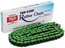 NEW HEAVY DUTY MOTORCYCLE CHAIN 428H 130 LINK GREEN COLOUR - KAWASAKI KLX125