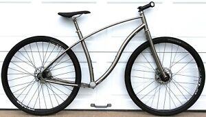 """Budnitz Bikes No. 3 Titanium E-BIKE City / Gravel Bike Frameset Large 700c / 29"""""""