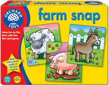 Orchard Toys Farm Snap Baby/Toddler/Child Card Game Animals Education BNIB