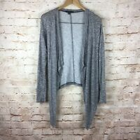 American Eagle Gray Open Front Cardigan Knit Sweater Size Medium