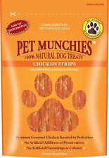 Pet Munchies Chicken Strips 100% Natural Dog Treats Grain Free Low Fat 90g