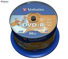 Verbatim DVD-R 4.7GB 16X velocità 120MIN stampabile con inchiostro DVD DISCHI