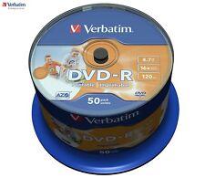 1x50 Verbatim Dvd-r 4 7gb 16x Speed Photo imprimable
