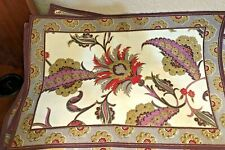 """New listing World Market MultiColor Placemats (6) 13 x 19 inches &Table Runner 90� X 13"""" Nwt"""