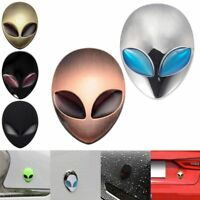 Full Metal 3D Alien Head Auto Logo Sticker Badge Emblem Car Motorcycle Decals